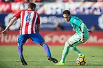 Neymar da Silva Santos Junior of FC Barcelona fights for the ball with Jorge Resurreccion Merodio, Koke, of Atletico de Madrid during their La Liga match between Atletico de Madrid and FC Barcelona at the Santiago Bernabeu Stadium on 26 February 2017 in Madrid, Spain. Photo by Diego Gonzalez Souto / Power Sport Images