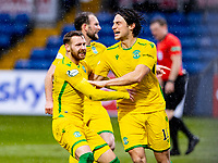 13th March 2021; Global Energy Stadium, Dingwall, Highland, Scotland; Scottish Premiership Football, Ross County versus Hibernian; Martin Boyle of Hibernian celebrates after scoring equalising goal with Joe Newell of Hibernian in the 52nd minute