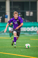 19 October 2013: University at Albany Great Dane Midfielder Martin Gorrie, a Sophomore from Grafton, Australia, in action against the University of Vermont Catamounts at Virtue Field in Burlington, Vermont. The Catamounts defeated the visiting Danes 2-1. Mandatory Credit: Ed Wolfstein Photo *** RAW (NEF) Image File Available ***