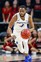 Washington, DC - March 10, 2020: Hofstra Pride guard Desure Buie (4) dribbles the ball during the CAA championship game between Hofstra and Northeastern at  Entertainment and Sports Arena in Washington, DC.   (Photo by Elliott Brown/Media Images International)