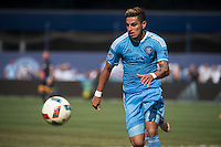 BRONX, NY - Saturday August 20, 2016: New York City FC takes on the the Los Angeles Galaxy at home at Yankee Stadium in regular season MLS play.
