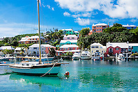 Boats in harbor, Harrington Sound, Bermuda