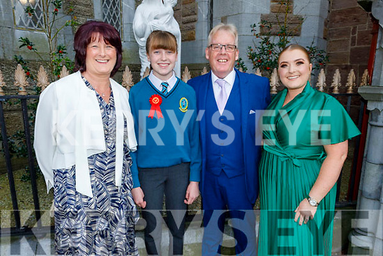 Ava O'Connor former student of Moyderwell NS now going to Mounthawk receiving her Confirmation in St Johns Church on Sunday.<br /> L to r: Patricia, Ava, Pat and Louise O'Connor.