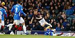 03.04.2019 Rangers v Hearts: Jon Flanagan takes out Oliver Bozanic