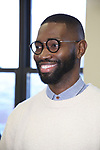 "Tarell Alvin McCraney during the MTC Broadway Cast Call for ""Choir Boy"" at The MTC Rehearsal Studios on November 20, 2018 in New York City."