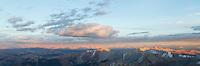 Sunset panorama from Castle Peak