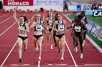 9th July 2021, Monaco, France; Diamond League Athletics, Herculis meeting, Monaco; Laura Muir (GBR) ahead of Reekie and Grance