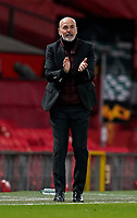 Stefano Pioli manager of AC Milan during the UEFA Europa League match at Old Trafford, Manchester. Picture date: 11th March 2021. Picture credit should read: Andrew Yates/Sportimage/Imago/Insidefoto ITALY ONLY SPI-0952-0020