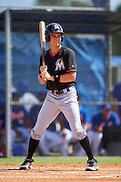 Miami Marlins Walker Olis (89) during an Instructional League game against the New York Mets on September 29, 2016 at the Port St. Lucie Training Complex in Port St. Lucie, Florida.  (Mike Janes/Four Seam Images)