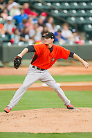 Frederick Keys starting pitcher Tim Berry (23) in action against the Winston-Salem Dash at BB&T Ballpark on July 21, 2013 in Winston-Salem, North Carolina.  The Dash defeated the Keys 3-2.  (Brian Westerholt/Four Seam Images)
