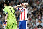 Atletico de Madrid's Mario Mandzukic dejected during Champions League 2014/2015 Quarter-finals 2nd leg match.April 22,2015. (ALTERPHOTOS/Acero)