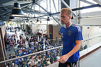 SAN JOSE, CA - AUGUST 8: Jackson Yueill #14 of the San Jose Earthquakes before a game between Los Angeles FC and San Jose Earthquakes at PayPal Park on August 8, 2021 in San Jose, California.