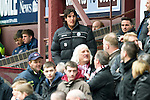 Hearts v St Johnstone....06.05.12   SPL.Suspended saints striker Fran Sandaza watches from the stands..Picture by Graeme Hart..Copyright Perthshire Picture Agency.Tel: 01738 623350  Mobile: 07990 594431