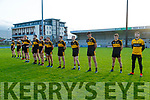 The Dr Crokes team before the Kerry County Senior Football Championship Semi-Final match between Mid Kerry and Dr Crokes at Austin Stack Park in Tralee, Kerry.