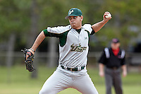 USF Bulls pitcher Nick Gonzalez #6 delivers a pitch during a game against the Ohio State Buckeyes at the Big Ten/Big East Challenge at Walter Fuller Complex on February 17, 2012 in St. Petersburg, Florida.  (Mike Janes/Four Seam Images)