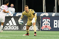 FOXBOROUGH, MA - SEPTEMBER 04: Philipp Marceta #1 Forward Madison FC during a game between Forward Madison FC and New England Revolution II at Gillette Stadium on September 04, 2020 in Foxborough, Massachusetts.
