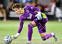 LAKE BUENA VISTA, FL - JULY 26: Thomas Hasal of Vancouver Whitecaps FC rolls the ball during a game between Vancouver Whitecaps and Sporting Kansas City at ESPN Wide World of Sports on July 26, 2020 in Lake Buena Vista, Florida.