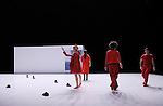 LUX....Durée du spectacle : 1h05....Mise en scène et chorégraphie : Daniel Larrieu..Interprètes : Agnès Coutard, Valérie Castan, Christine Jouve, Anne Laurent, Judith Perron, Jérôme Andrieu, Luc Cerutti, Jonas Chéreau, Olivier Clargé..Textes originaux : Thierry Illouz, Christophe Huysman, Marie Nimier..Lumière : Marie-Christine Soma..Création sonore : Félix Perdreau, Toboflex - Boris Jolivet..Musique : Rameau, Rachmaninov, Ella Fitzgerald..Scénographie : Franck Jamin..Réalisation des décors : Christophe Poux et Franck Jamin..Costumes : Pea Soup, Margaret Pong....Direction technique : Christophe Poux..Régie son : Félix Perdreau..Régie lumière : Eric Corlay..Administration : Chloé Schmidt....Création 2010..Coproduction : La Ferme du buisson - scène nationale de Marne-la-Vallée ; Le Manège - scène nationale de Reims ; Le CNDC d'Angers Avec l'aide à la production d'Arcadi...Avec le soutien de la Ménagerie de Verre dans le cadre des Studiolabs du CCN du Havre et du Théâtre d'Orléans...Lieu : La ferme du Buisson..Ville : Noisiel..Le : 12 02 2010..© Laurent PAILLIER / photosdedanse.com..All rights reserved