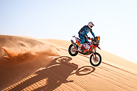 5th January 2021; Dakar Rally stage 3; 09 Howes Skyler (usa), KTM, Bas Dakar KTM Racing Team, Moto, Bike, action during the 3rd stage of the Dakar 2021 between Wadi Al Dawasir and Wadi Al Dawasir, in Saudi Arabia on January 5, 2021