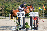 AUT-Dr Harald Ambros rides Lexikon 2 during the Showjumping for the CCIO4*-S FEI Nations Cup Eventing. 2021 BEL-Concours Complet Arville. Saturday 21 August 2021. Copyright Photo: Libby Law Photography
