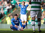 Celtic v St Johnstone...29.08.15  SPFL   Celtic Park<br /> Michael O'Halloran reacts after his shot is saved by Craig Gordon<br /> Picture by Graeme Hart.<br /> Copyright Perthshire Picture Agency<br /> Tel: 01738 623350  Mobile: 07990 594431