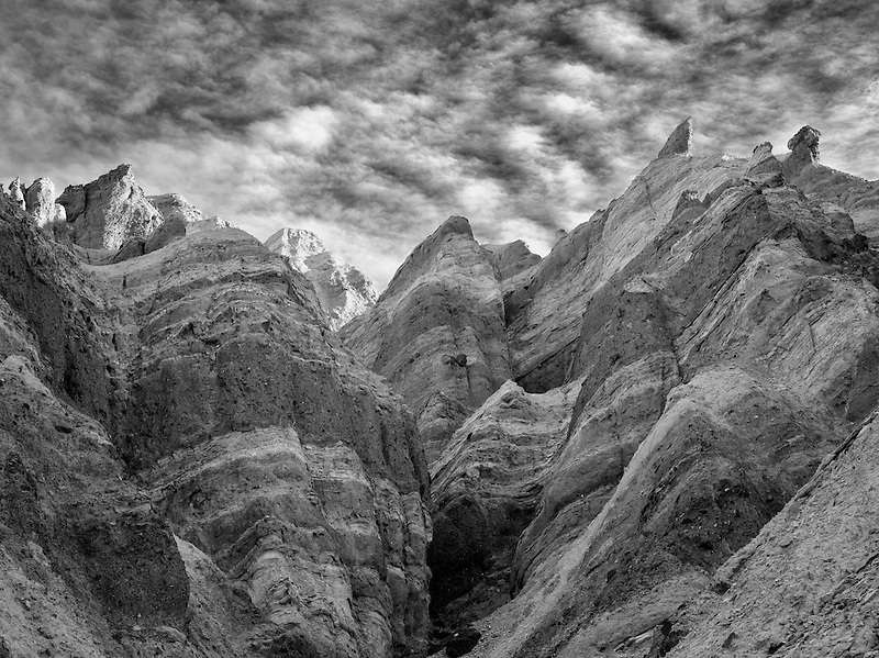 Rock formations from Golden Canyon Trail. Death Valley National Park, California