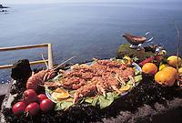 - Sardinian typical kitchen, restaurant La Lepanto, lobster to the algherese....- cucina tipica sarda, ristorante La Lepanto, aragosta all'algherese