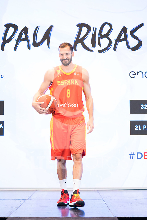 Player Pau Ribas during the official presentation of Spanish National Team of Basketball.  July 24, 2019. (ALTERPHOTOS/Francis Gonzalez)