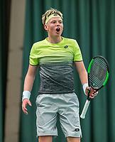 Wateringen, The Netherlands, March 16, 2018,  De Rhijenhof , NOJK 14/18 years, Nat. Junior Tennis Champ.  Guy Stockman (NED)<br />  Photo: www.tennisimages.com/Henk Koster