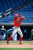 Philadelphia Phillies Jadiel Sanchez (53) at bat during an Instructional League game against the Toronto Blue Jays on September 17, 2019 at Spectrum Field in Clearwater, Florida.  (Mike Janes/Four Seam Images)