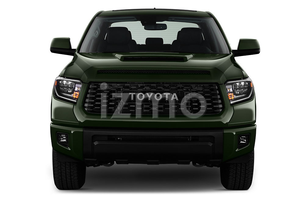 Car photography straight front view of a 2020 Toyota Tundra TRD-Pro 4 Door Pick-up Front View