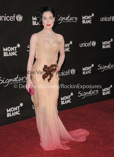 Dita Von Teese at The Montblanc Signature for Good Charity Gala benefiting Unicef held at Paramount Studios in Hollywood, California on February 20,2009                                                                     Copyright 2008 Debbie VanStory/RockinExposures