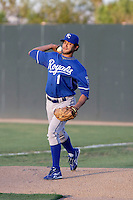 Tony Pena Jr - AZL Royals (2009 Arizona League). Former major league shortstop Tony Pena Jr appearing in his first official game as a pitcher with the AZL Royals against the Athletics at Papago Park, Phoenix, AZ - 08/07/2009..Photo by:  Bill Mitchell/Four Seam Images..