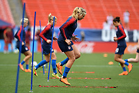 Cleveland, Ohio - Tuesday June 12, 2018: Allie Long during an international friendly match between the women's national teams of the United States (USA) and China PR (CHN) at FirstEnergy Stadium.