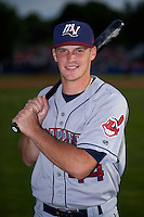 Mahoning Valley Scrappers catcher Jack Goihl (44) poses for a photo before a game against the Batavia Muckdogs on July 3, 2015 at Dwyer Stadium in Batavia, New York.  Batavia defeated Mahoning Valley 7-4.  (Mike Janes/Four Seam Images)