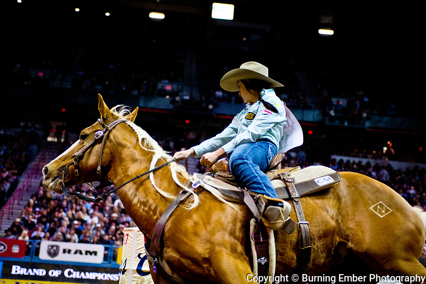 at the Wrangler National Finals Rodeo December 9th 2017 3rd Round event.  Photo by Josh Homer/Burning Ember Photography.  Photo credit must be given on all uses.