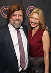 Oskar Eustis and Laurie Eustis attends The 69th Annual Outer Critics Circle Awards Dinner at Sardi's on May 23, 2019 in New York City.