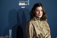 ValÈrie Donzelli ‡ la 42e CÈrÈmonie des CÈsars ‡ l'arrivÈe sur le tapis rouge de la salle Pleyel ‡ Paris le 24 fÈvrier 2017