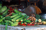 VEGETABLES, CUCUMBERS & PEPPERS for SALE at OUTDOOR MARKET