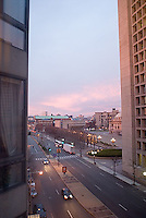 Huntington Avenue in front of Christian Science Church Park, Boston<br />
