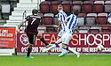 Hearts' Ryan Stevenson (7) scores their second goal.