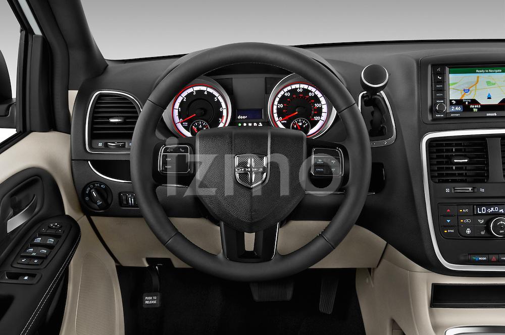 Car pictures of steering wheel view of a2015 Dodge Grand Caravan SXT PLUS 5 Door Minivan Steering Wheel