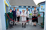 Ann O'Shea cuts the tape to open  the new outside class at the Monastery NS Killarney on Friday