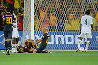 Mark BRESCIANO (23) of Australia celebrates a goal with team mates during the FIFA 2014 World Cup Group D Asian Qualifier match between Australia and Saudi Arabia at AAMI Park in Melbourne, Australia...This image is not for sale on this web site. Please contact Southcreek Global Media for licensing:.Toll Free: 1.800.934.5030.Canada: 701 Rossland Rd. East, Suite 315, Whitby, Ontario, Canada, L1N 9K3.USA: 10792 Baron Dr, Parma OH, USA 44130.Web: http://southcreekglobal.net/ and http://southcreekglobal.com/