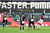 Franck Kessie of AC Milan scores the goal of 3-2 during the Serie A football match between AC Milan and Juventus FC at stadio San Siro in Milan ( Italy ), July 7th, 2020. Play resumes behind closed doors following the outbreak of the coronavirus disease. <br /> Photo Matteo Gribaudi / Image  / Insidefoto