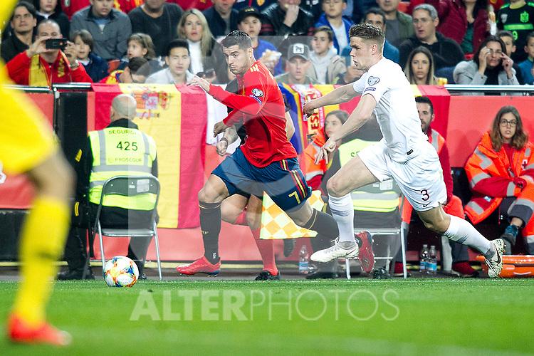 Spain's Alvaro Morata   during the qualifying match for Euro 2020 on 23th March, 2019 in Valencia, Spain. (ALTERPHOTOS/Alconada)