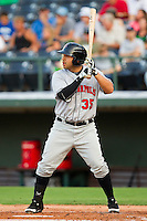 Jason Jaramillo #35 of the Indianapolis Indians at bat against the Charlotte Knights at Knights Stadium on July 26, 2011 in Fort Mill, South Carolina.  The Knights defeated the Indians 5-4.   (Brian Westerholt / Four Seam Images)