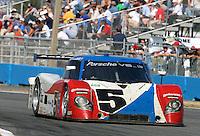 30 January 2011: The #5 Porsche Riley of David Donohue, Darren Law, Buddy Rice, and Burt Frisselle, Rolex 24 at Daytona, Daytona International Speedway, Daytona Beach, FL (Photo by Brian Cleary/www.bcpix.com)