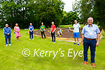 Listowel Pitch & Putt Club: Chris Curran, Noelle O'Connell, Mark Tomey, Cllr. Tom Barrry, Tom O'Connor & Mayor of Listowel Cllr Ml. Foley. Back : Brian Enright, Kyle Curra & Robert Enright.