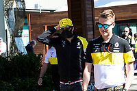12th March 2020; Melbourne Grand Prix Circuit, Melbourne, Victoria, Australia; Formula One, Australian Grand Prix, Practice Day; Renault driver Esteban Ocon wears a mask to protect himself from the COVID-19 virus